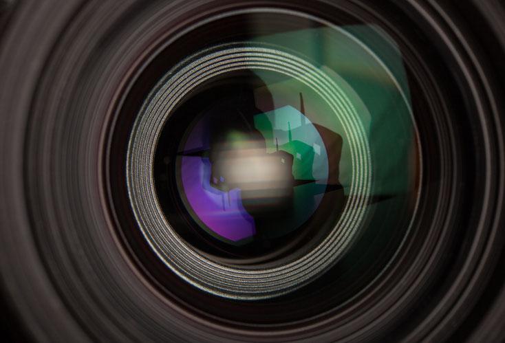 Kameraobjektiv; Angestelltenüberwachung, Arbeitnehmerüberwachung, Detektei Wuppertal
