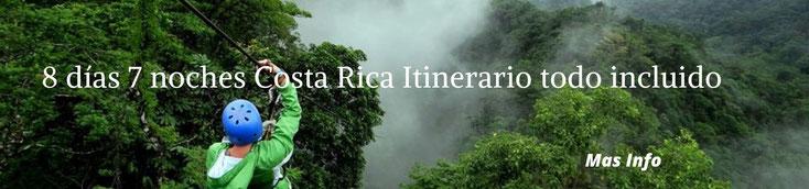 Vacaciones en Costa Rica 8 días y 7 noches
