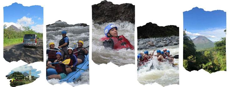 Tour de Rafting en Río Balsa 2 & 3 y Sarapiquí 3 & 4 viajando entre La Fortuna - Volcán Arenal y San José