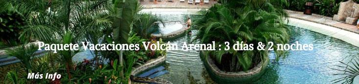 Itinerario para disfrutar de los principales sitios de Arenal y Río Celeste