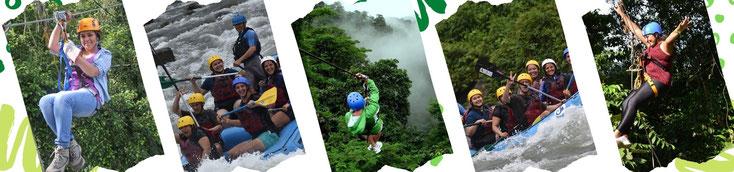Excursión de un día combinando dos aventuras:  Rafting Clase 2 - 3 Río Balsa y Canopy Tour