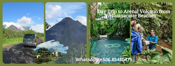 Day Tour to Arenal Volcano, Hike, Tabacon or Baldi Hot Springs, Waterfall, Zipline, Hanging bridges.