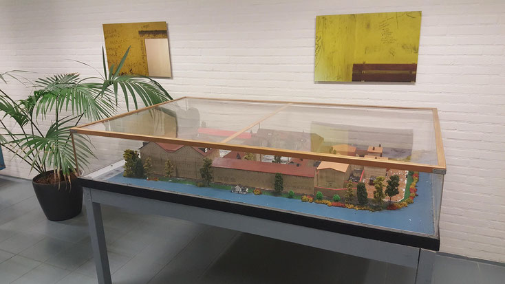 """Maquette """"DeBlokhuisPoort"""" in de PI Leeuwarden"""