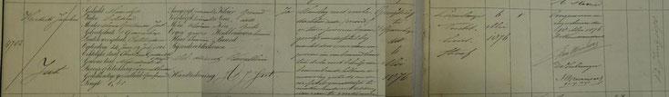 Inschrijving inkomstenboek van de strafgevangenis Leeuwarden. 6 mei 1876 [bron Tresoar]