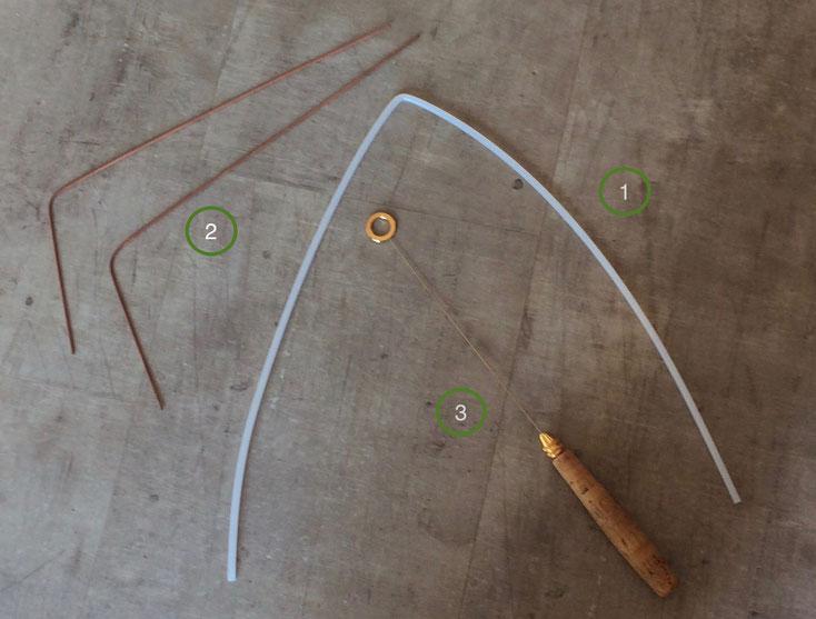 verschiedene Wünschelruten die der Rutengänger benutzt