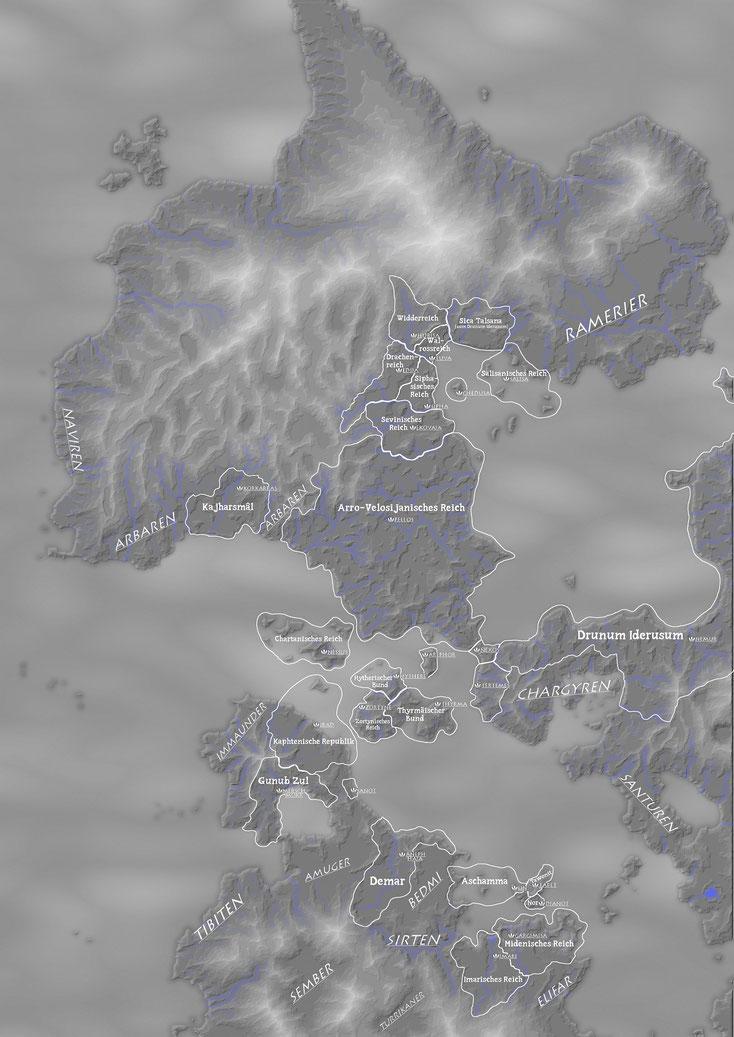 Politische Karte des Jahres 500 Vor