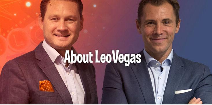 im Bild von links nach rechts: Gustaf Hagman und Robin Ramm-Ericson, Gründer von LeoVegas