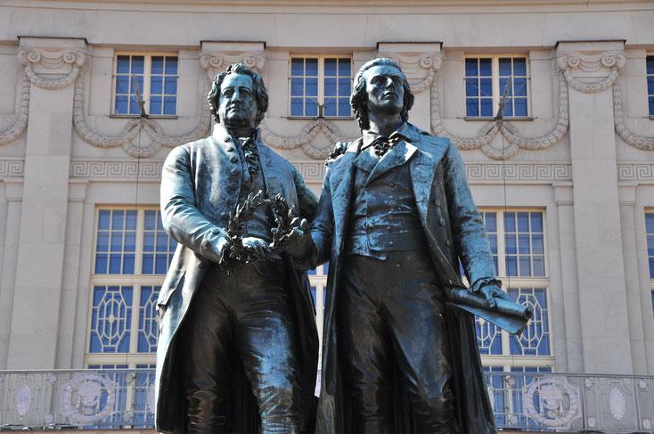 Goethe-Schiller Monument; private detective Weimar, private investigator Weimar