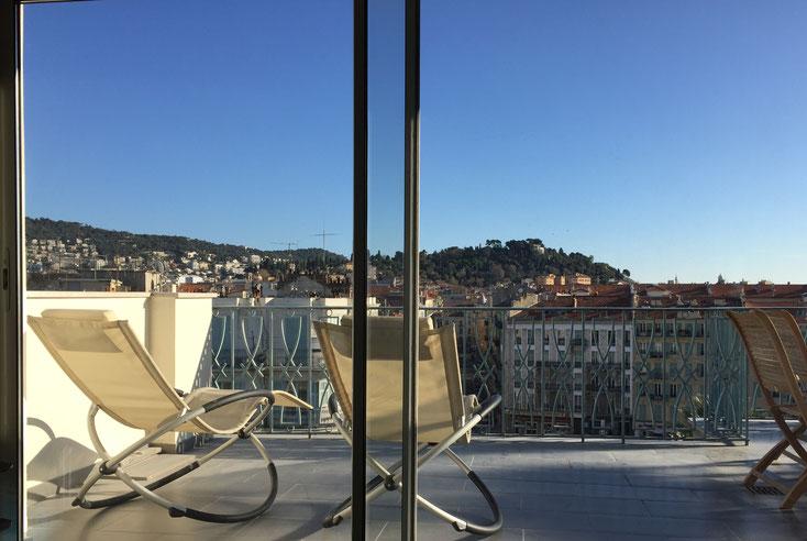 Nice Centre-Luxe-Terrasse vue panoramique sur la ville
