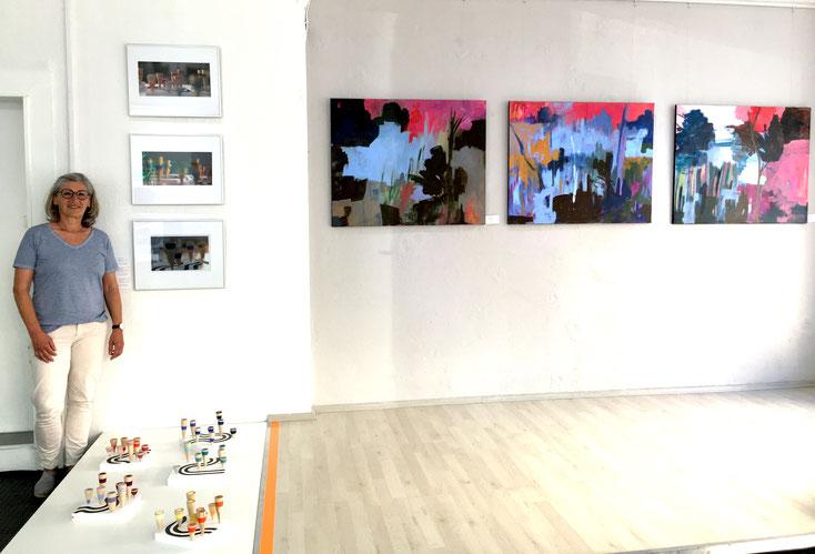 """Ausstellung """"Sichtweisen"""" Annette Wöhrl und Ruth Gross, Juni 2020 GEDOK Galerie Heidelberg"""