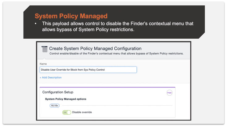 Step 2: Create a System Policy Managed configuration.