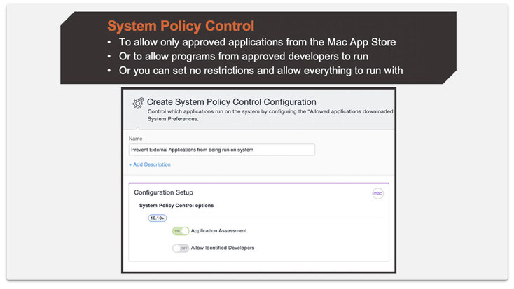 Step 1: Create a System Policy Control Configuration