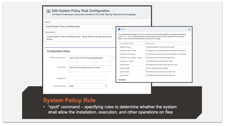 Step 3: Create a System Policy Rule configuration.