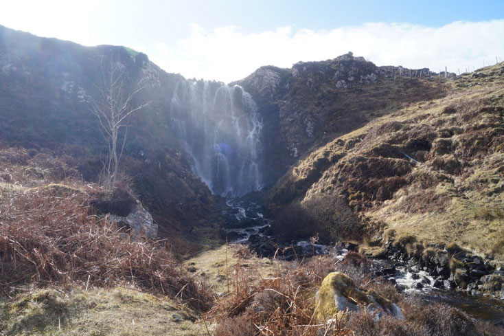 Clasnessie Waterfall NC500 - Bed and Breakfast Highlands of Scotland