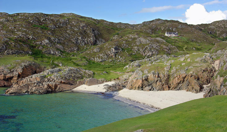 Achmelvich beach Highlands of Scotland