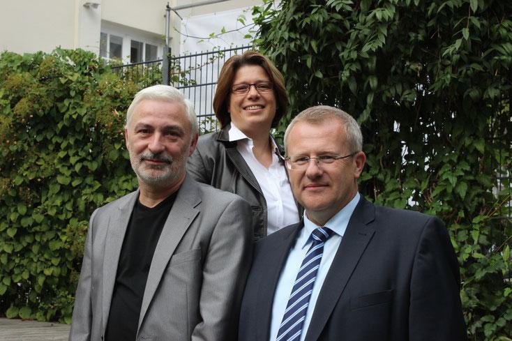Von Links: Günter Dubber, Ulrike Walter und Alexander Blume