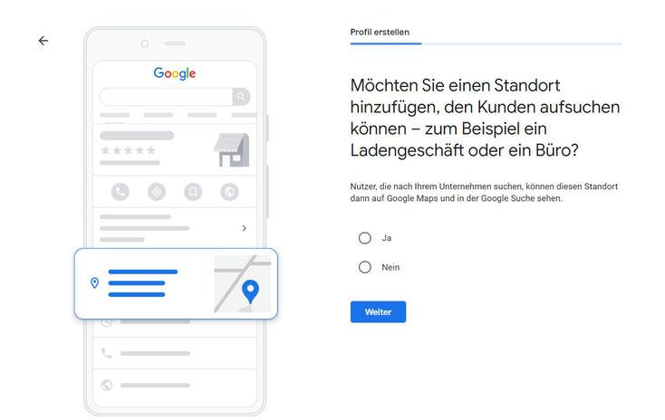 Google My Business Adresse ausblenden.