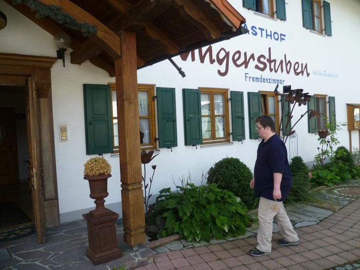 Hier kann man gut übernachten, und das Essen schmeckt soooo lecker. Wangerstuben Oberostendorf.