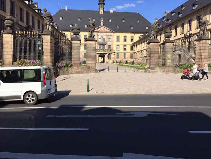 Eingangsbereich zum Schloß in Fulda