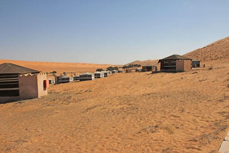 Bild 4 Blick auf die Wohneinheiten im 1000 nights camp