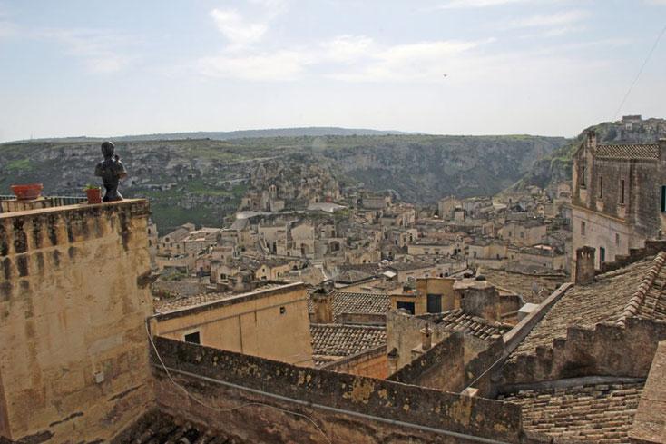 Basilikata 2016, Blick vom Hotelbalkon in Matera