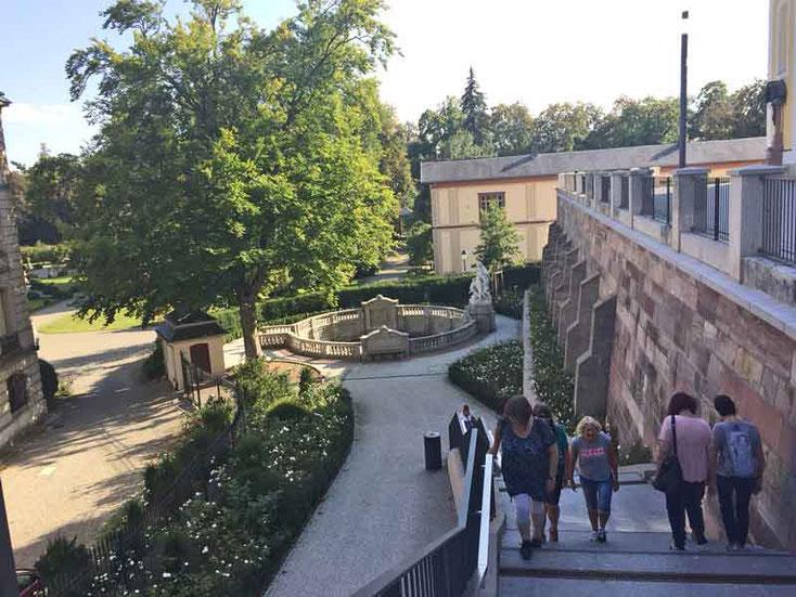 Bild 2 Treppe zur Donauquelle in Donauschingen