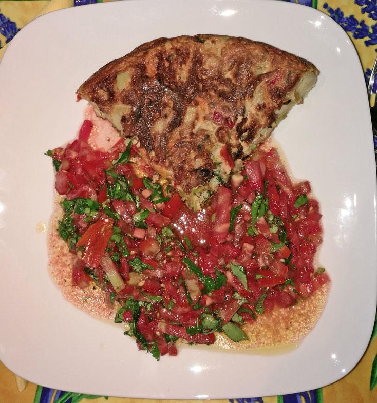 Bild 1 Tortilla mit Tomatensalsa