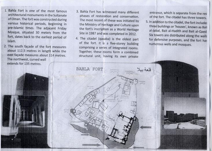 Bild 10a Beschrebung des Forts, mehr Info war nicht zu erhalten