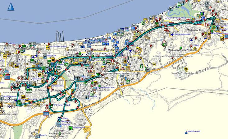 Bild 9 Unsere Fahrtstrecke von heute - Kartenquelle: © OpenStreetMap-Mitwirkende