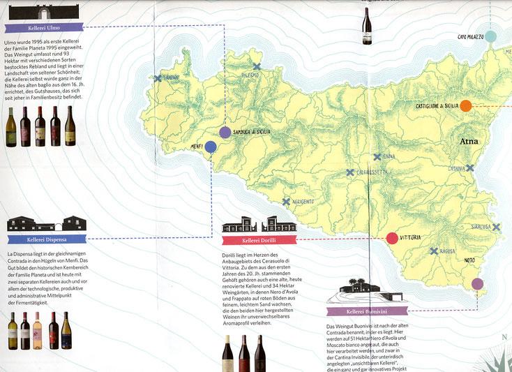 Sizilien 2016, Die verschiedenen Weingüter Planeta