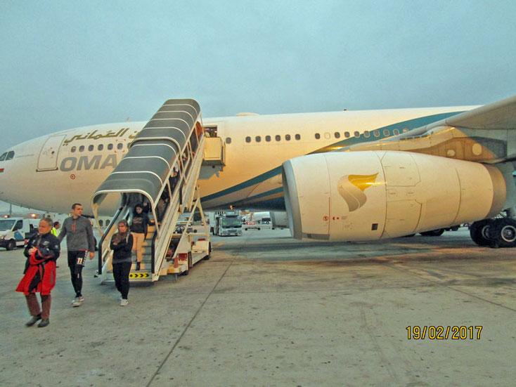 Unser Flugzeug nach Muscat - Oman