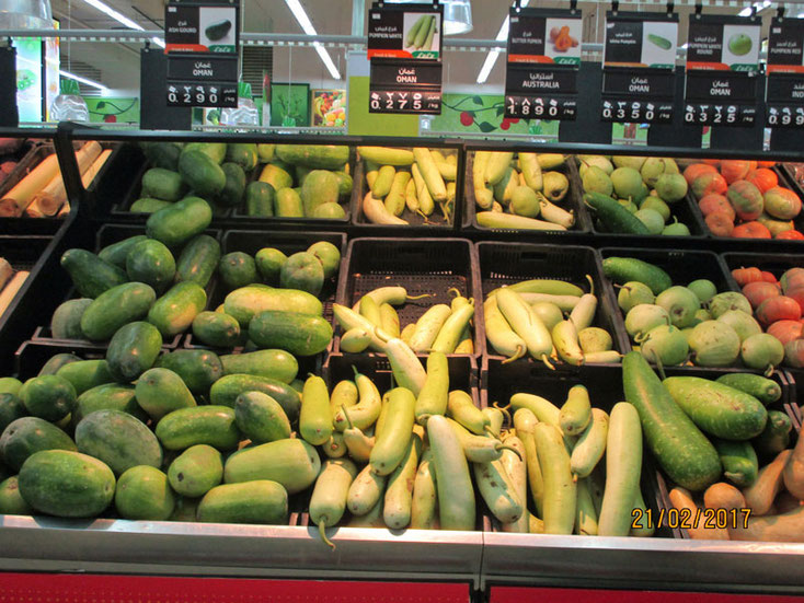 Bild 6 Obst und Gemüse in der Lulu Shopping Mall.