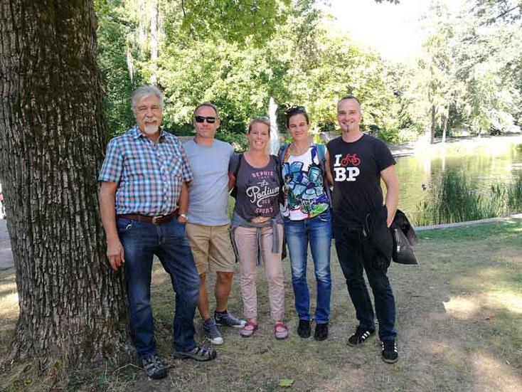 Gruppenbild im Schloßpark von Fulda