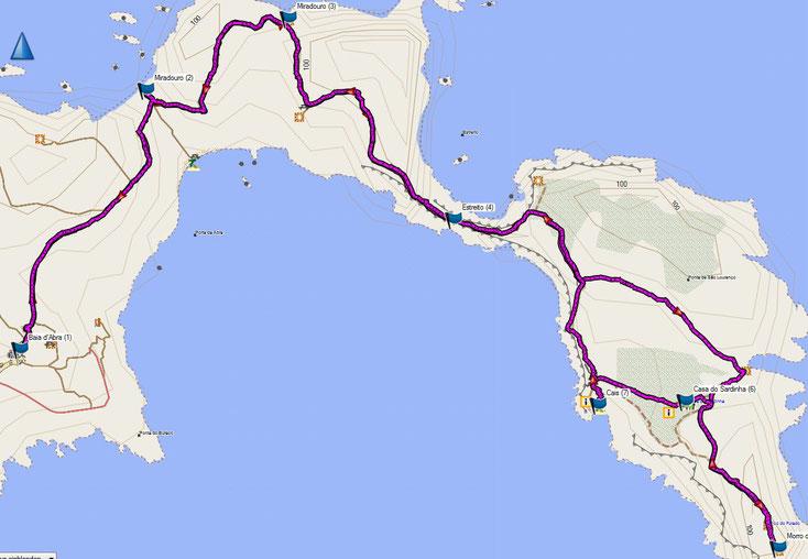Bild 14 Wanderung zur östlichsten Spitze von Madeira Quelle: Openstreetmap