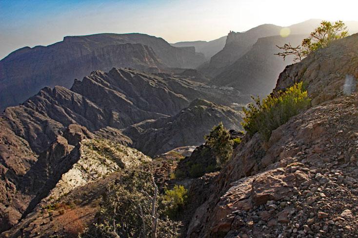 Oman Urlaub 2017; Blick auf die Berge des Al Jabal Al Akhdar