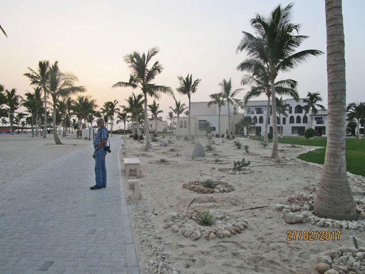 Oman Urlaub 2017; Bummel durch das Rotana Resort am Abend