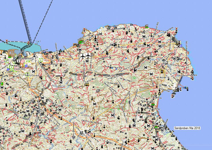 Sammelstelle von Sand aus Quinecille, Frankreich Kartenquelle: © OpenStreetMap-Mitwirkende
