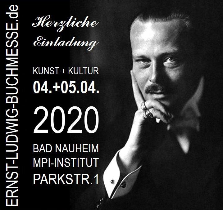 Plakat der 3. Ernst-Ludwig-Buchmesse in Bad Nauheim; Macher von Plakat, Buchmesse und Booy-Verlag: Beatrix van Ooyen