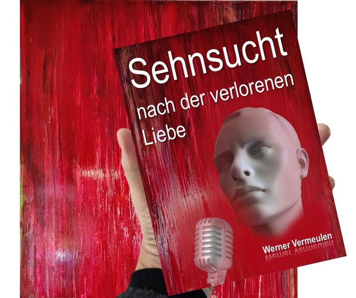 Ein Gemälde von Künstlerin Petra Reissmann und das Buch von Werner Vermeulen
