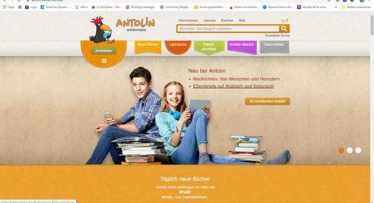 Zur Lernplattform Antolin (Lesen, Fragen beantworten, Punkte sammeln)