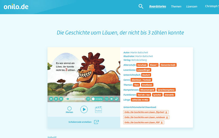 Spannende Lese-Geschichten bei Onilo.de