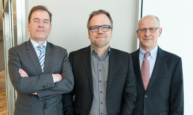 VRiLG Elmar Streyl,  Prof. Dr. Markus Artz, Prof. Dr. Hubert Schmidt (v.l.n.r.). Foto: Paul Maaßen.