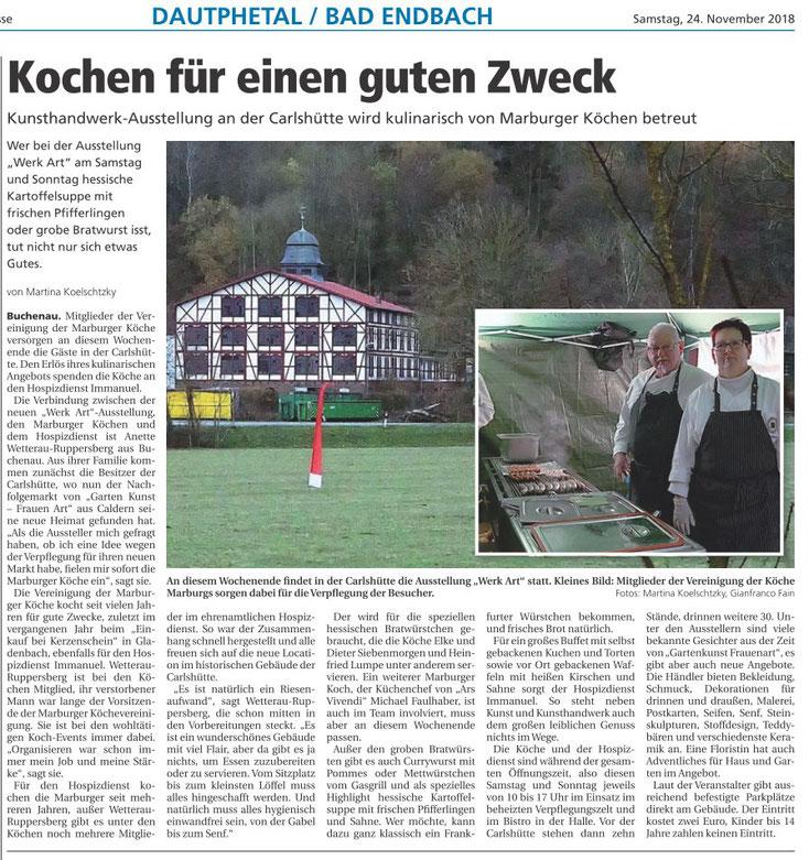 Pressebericht aus der Oberhessischen Presse vom 24.11.2018