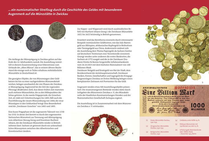 Sonderausstellung Alte Münzen In Zwickau Sächsische
