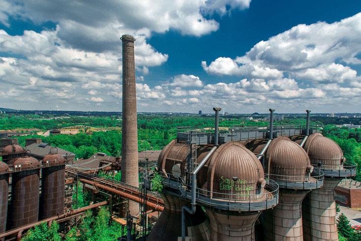 Hüttenwerk im Landschaftspark Duisburg-Nord von oben; Kurtz Privatdetektei Duisburg, Privatdetektiv Duisburg