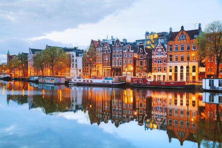 Grachten Amsterdam; Wirtschaftsdetektei, Privatdetektei Amsterdam, Detektiv-Team Amsterdam