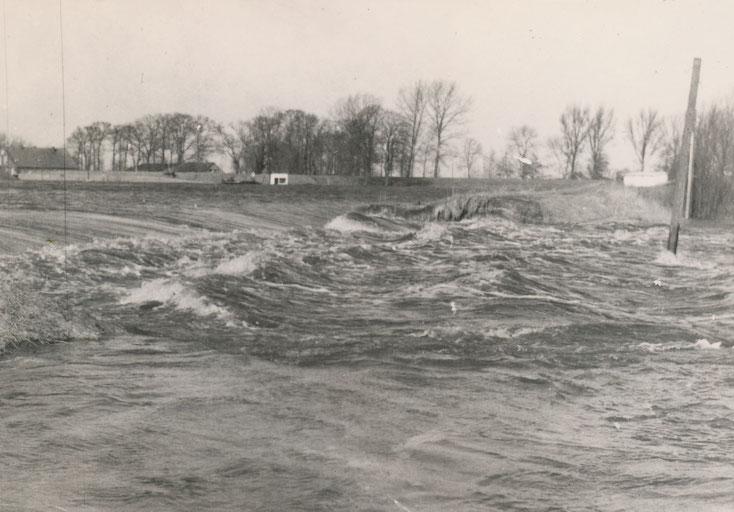 Deichbruch in Völlen Sturmflut 1962