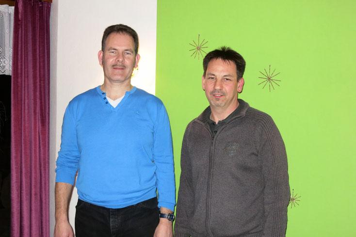 Alter und neuer Präsident des MTV Zeihen, Roman Riner und Marco Profico (v.l.)