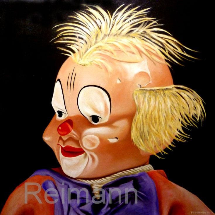 Ölbild  mit Clown