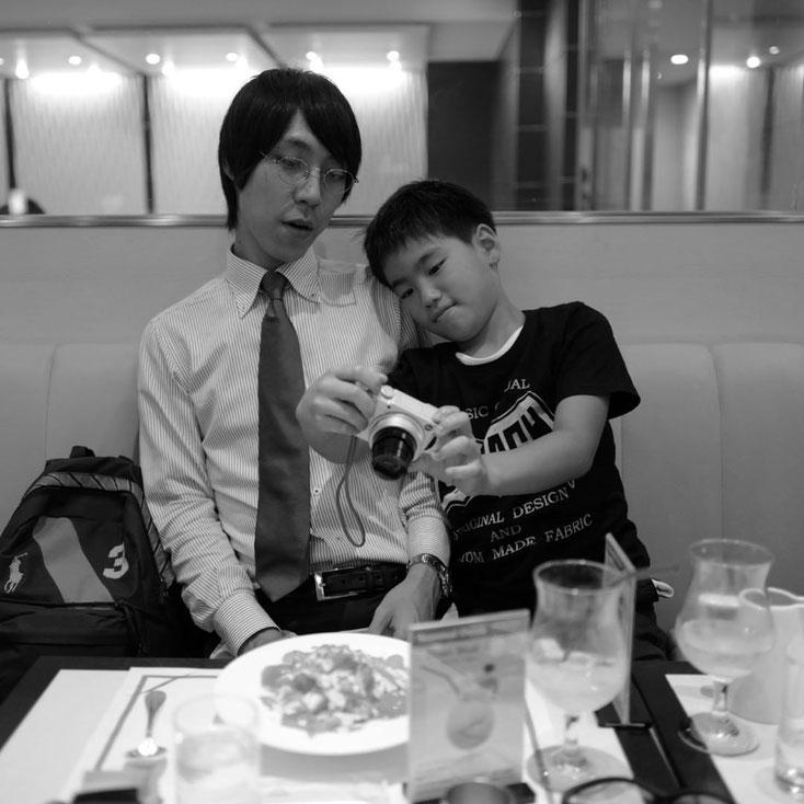 写真:帝国ホテルパークサイドダイナーで夕食中